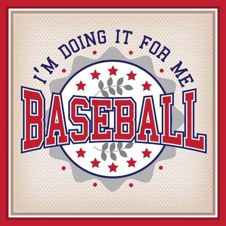 varsity: Retro Baseball Round Badge Varsity Style Illustration