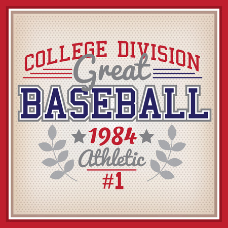 the varsity: Retro Baseball College Division Badge Varsity Style