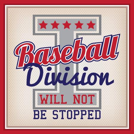 varsity: Retro Baseball Division Badge Varsity Style Illustration