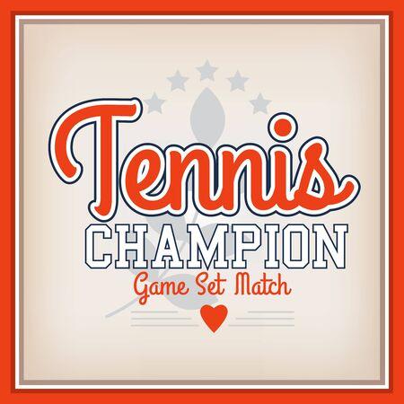 shield: Retro Tennis Champion Identity Badge Varsity Style