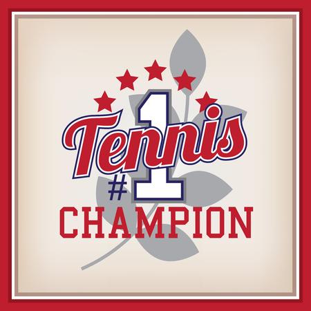 varsity: Retro Tennis Champion Identity Badge Varsity Style