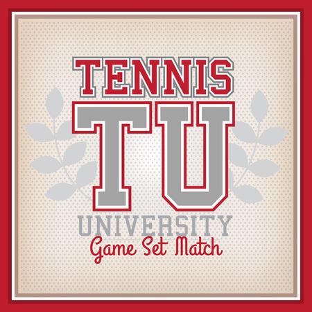 varsity: Retro Tennis University Identity Badge Varsity Style