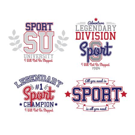 bolos: Estilo retro blanco y negro de la insignia del deporte Colección del equipo universitario