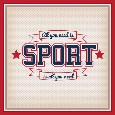 banni�re football: Retro Sport Badge. Collection Varsity Style