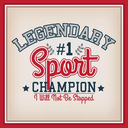 varsity: Retro Sport Champion Badge. Collection Varsity Style Illustration
