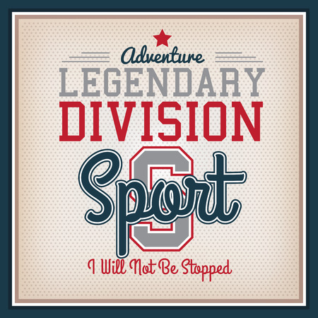 varsity: Retro Sport Legendary Division Badge. Collection Varsity Style