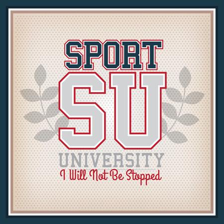 varsity: Retro Sport University Badge. Collection Varsity Style Illustration