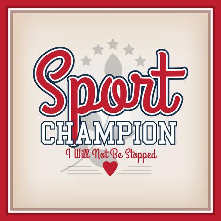 varsity: Retro Sport Badge Champion. Varsity Style
