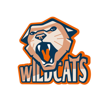 wildcat: Retro Style Sport Wildcat Mascot Design Illustration