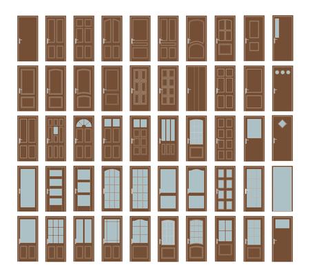 50 Portes Set. Big Inter Portes Design Collection