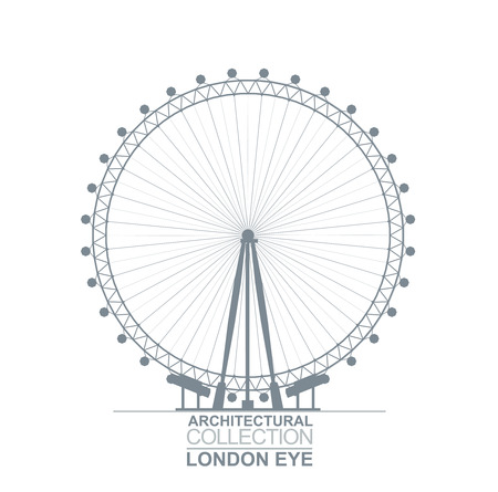 Detail Quality Architectural London Eye Wheel Silhouette