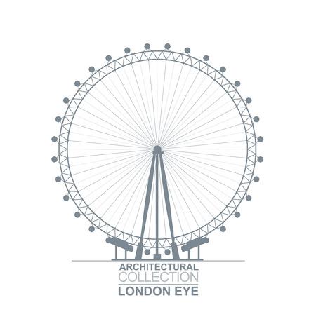 millennium: Detail Quality Architectural London Eye Wheel Silhouette