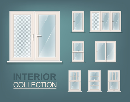 for print: Windows Photorealistic Set. For Print, Web and Architecture