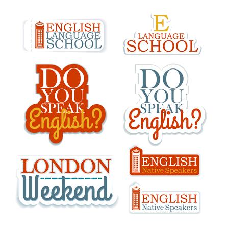 Set of Logos. English Language School Theme