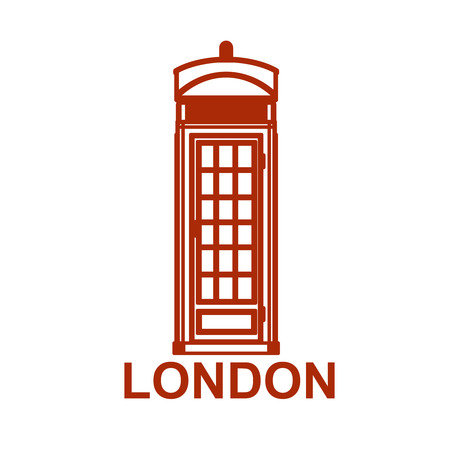 call history: London phone booth icon isolated on white