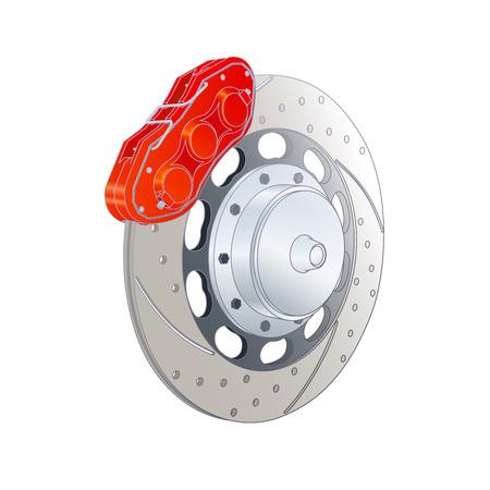 brakes: Vector Color Photorealistic Illustration Of Automobile Brakes