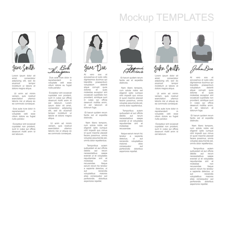 signatures: Editable Mockup Templates With People and Signatures