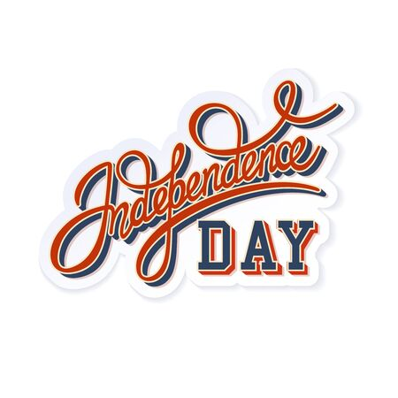 handwritten: Color Vector Handwritten Independence Day Greeting Lettering