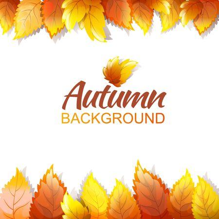 Herfst Achtergrond Sjabloon. Kleur Vector Bewerkbaar Ontwerp