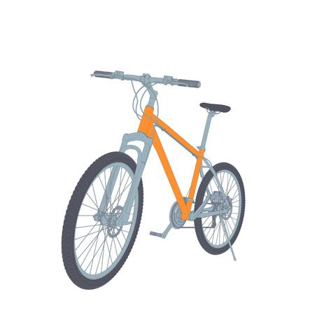 spoke: Bicycle Vector Tehnical Illustration Isolated On White Illustration
