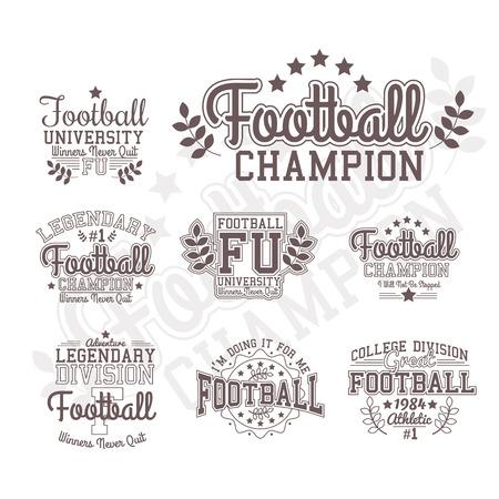 Fútbol Americano. Dos Opciones De Color Y El Logotipo En Blanco Y ...