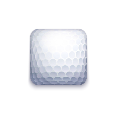 Vector Golf Ball Icon For Applications, Ui, GUI and Game Interfaces
