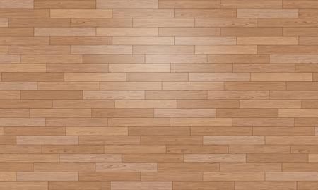 Natural Photo Realistic Wooden Floor Vector Background. Shipdeck Parquet Texture Çizim