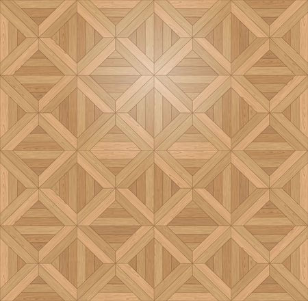Natural Photo Realistic Wooden Floor Vector Background. Engineered Chevron, Square Tile Palace Parquet Seamless Texture Çizim