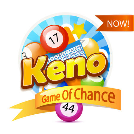 Keno Lottery Game  Template Isolated On White Template Isolated On White
