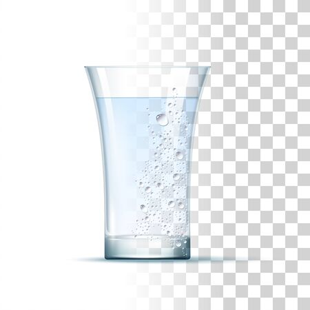 Vodka Shot Served In The Slightly Glass. Front View. 3d Photo Realistic Vector Illustration Isolated On Transparent Background 免版税图像 - 149662172