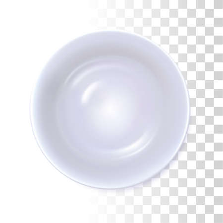 White Soup Dish On Transparent Background.