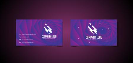 Twisting Background Namecard Design