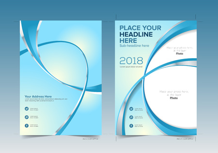 Book Cover Design Front and Back with Bleed Area in Vector Ready for Printing