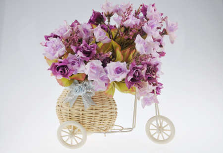 mini bike: Flowers on a mini bike