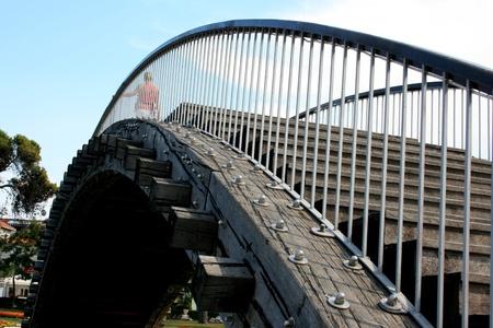 wooden bridge in Trogir, Croatia photo