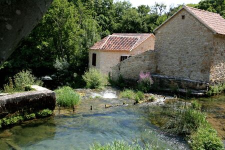 Croatia, water mill, national park KRKA photo