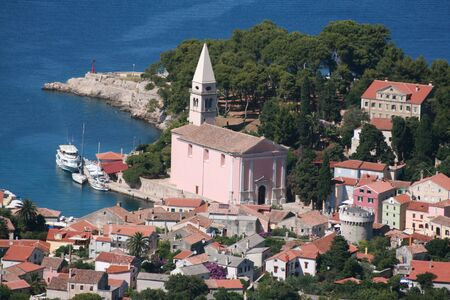 Veli Losinj, overview from top of hill photo