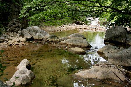 paklenica: Croatia, Velebit, national park Paklenica, mountain river Stock Photo