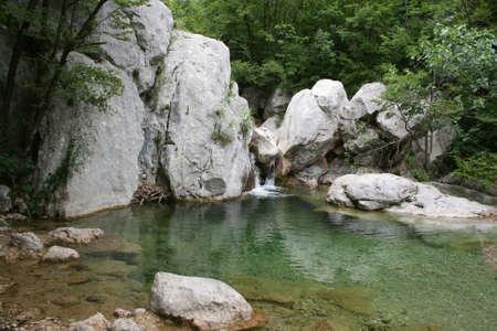 paklenica: Croatia, Velebit, national park Paklenica, pool of mountain river