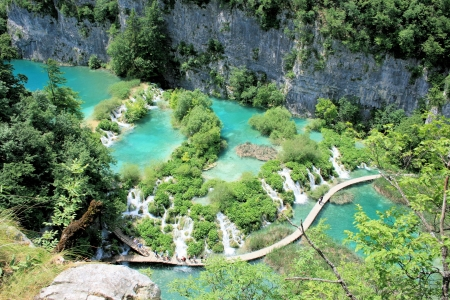 Plitvice lakes national park, Croatia 版權商用圖片