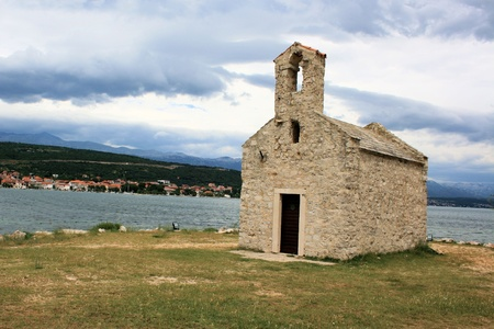 chappel: Chappel on a small island near Novigrad sea, Croatia