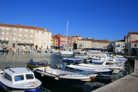 harbor of Cres in Croatia photo
