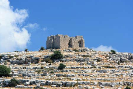 kornati: rovina del castello romano su isole Kornati, Croazia