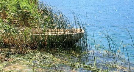shallop: Bacinska lakes, Croatia Stock Photo