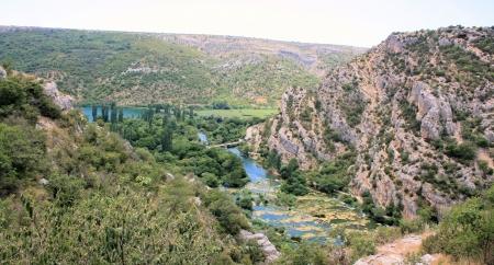 national park KRKA near Roski slap, Croatia photo