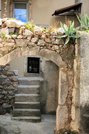 krk: old house in Vrbnik, island Krk, Croatia Stock Photo