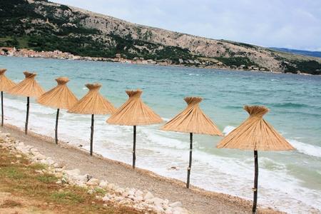 dive trip: Baska beach, island Krk, Croatia Stock Photo