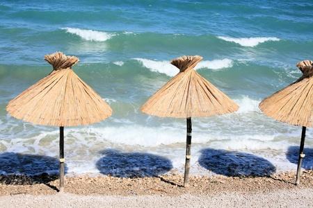 krk: Baska beach, island Krk, Croatia Stock Photo