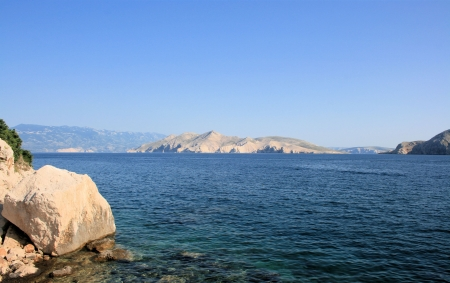 View on the island Prvic, Baska, Croatia photo