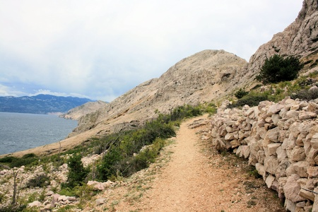 hiking in Baska, Croatia photo